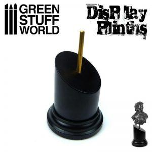 Green Stuff World   Display Plinths Tapered Round Bust Plinth 5x5cm Black - 8436574501759ES - 8436574501759