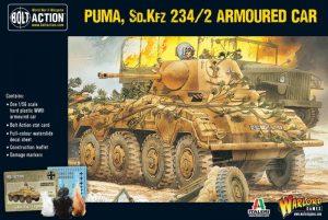 Warlord Games Bolt Action  Germany (BA) Puma Sd.Kfz 234/2 Armoured Car (plastic) - 402012009 - 5060200849811