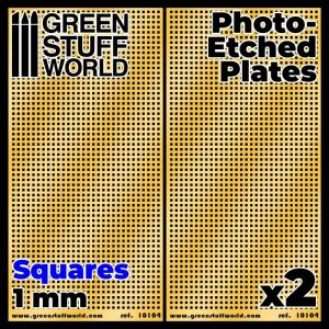 Green Stuff World   Etched Brass Photo-etched Plates - Large Squares - 8436574506037ES - 8436574506037
