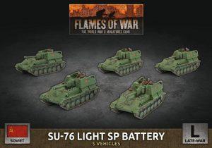 Battlefront Flames of War  SALE! Soviet SU-76 Light SP Battery - SBX65 - 9420020251373