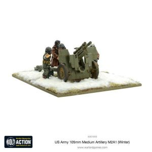 Warlord Games Bolt Action  United States of America (BA) US Army 105mm Medium Artillery M2A1 (Winter) - 403013003 - 5060393705796