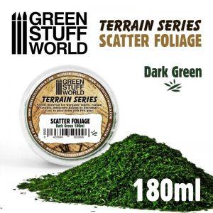 Green Stuff World   Lichen & Foliage Scatter Foliage - Dark Green - 180ml - 8435646500096ES - 8435646500096