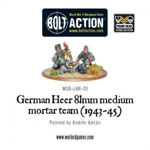 Warlord Games Bolt Action  Germany (BA) German Heer 81mm Medium Mortar - WGB-LHR-05 - 5060200846117