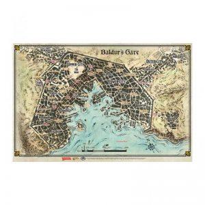 Gale Force Nine Dungeons & Dragons  D&D Game Mats D&D: Baldur's Gate City Map - GFN72792 - 9420020249363