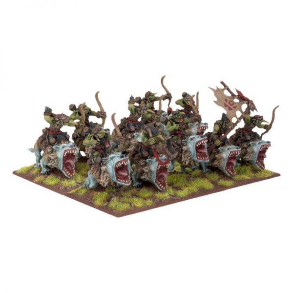 Mantic Kings of War  Orcs Goblin Fleabag Rider Sniff Regiment - MGKWO25-1 - 5060208863864