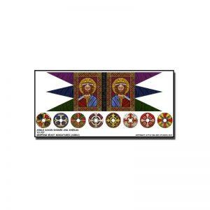 Gripping Beast SAGA  SAGA Anglo Saxon Banner & Shield Transfers - LBMS SAGA005 -