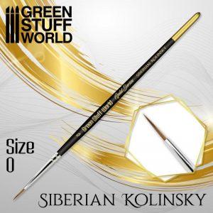 Green Stuff World   Kolinsky Sable Brushes GOLD SERIES Siberian Kolinsky Brush - Size 0 - 8436574507164ES - 8436574507164