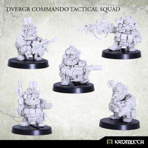 Kromlech   Dvergr Model Kits Dvergr Commando Tactical Squad (5) - KRM095 - 5902216113824