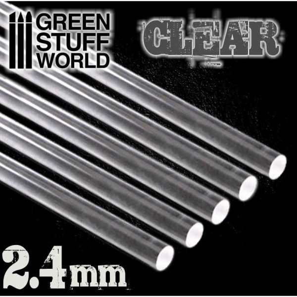 Green Stuff World   Acrylic Rods Acrylic Rods - Round 2.4 mm CLEAR - 8436554367559ES - 8436554367566