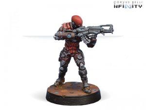 Corvus Belli Infinity  Nomads Intruder, Corregidor Assault Commando (HMG) - 280573-0519 - 2805730005190