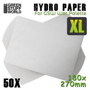Green Stuff World   Paint Palettes Hydro Paper XL x50 - 8435646501215ES - 8435646501215