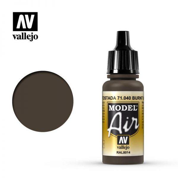 Vallejo   Model Air Model Air: Burnt Umber - VAL040 - 8429551710404