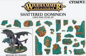 Games Workshop   Games Workshop Bases Shattered Dominion (large base detail) - 99120299036 - 5011921073146