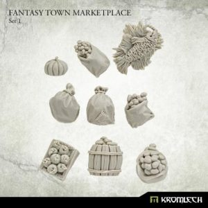 Kromlech   Kromlech Terrain Fantasy Town Marketplace 1 (9) - KRBK063 - 5908291070458