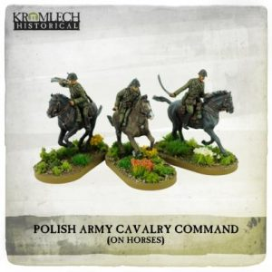 Kromlech   Kromlech Historical Polish Army Cavalry Command on horses (3) - KHWW2025 - 5902216117679