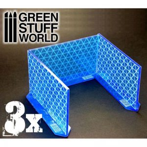 Green Stuff World   Green Stuff World Terrain 3x Big Energy Walls - Intense Blue - 8436554363896ES - 8436554363896