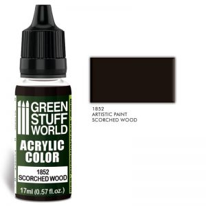 Green Stuff World   Acrylic Paints Acrylic Color SCORCHED WOOD - 8436574502114ES - 8436574502114