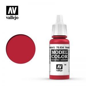 Vallejo   Model Colour Model Color: Transparent Red - VAL934 - 8429551709347