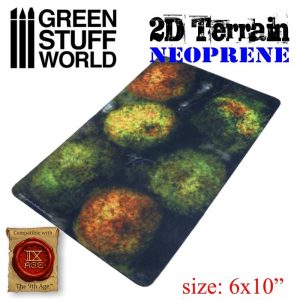 Green Stuff World   Green Stuff World Terrain 2D Neoprene Terrain - Forest with 6 trees - 8436574504484ES - 8436574504484