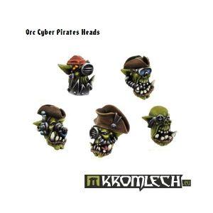 Kromlech   Orc Conversion Parts Orc Cyber Pirates Heads (10) - KRCB090 - 5902216110885