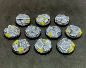 Baker Bases   Rocky Outcrop Rocky Outcrop: 25mm Round Bases (10) - CB-RK-01-25M - CB-RK-01-25M