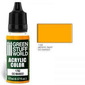 Green Stuff World   Acrylic Paints Acrylic Color GO MANGO - 8436574501414ES - 8436574501414