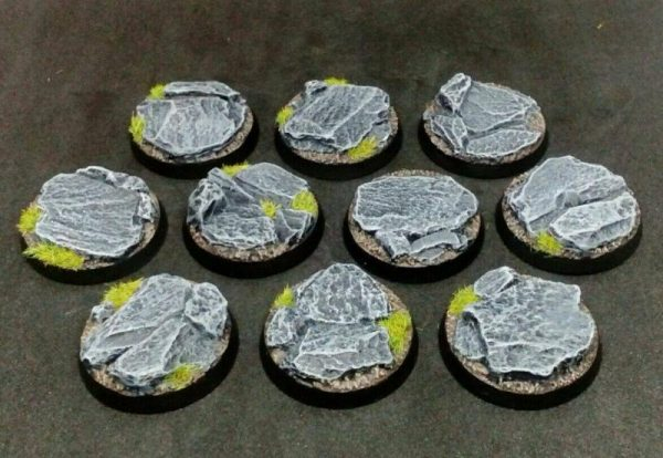 Baker Bases   Rocky Outcrop Rocky: 32mm Round Bases (10) - CB-RK-01-32M - CB-RK-01-32M