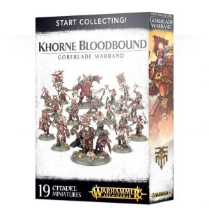 Games Workshop Age of Sigmar  Blades of Khorne Start Collecting! Khorne Bloodbound Goreblade Warband - 99120201066 - 5011921079964