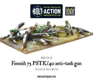 Warlord Games Bolt Action  Finland (BA) Finnish 75 PSTK/40 Anti-Tank Gun - WGB-FN-32 - 5060200849026