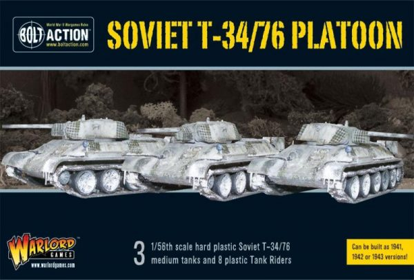 Warlord Games Bolt Action  Soviet Union (BA) Soviet T34/76 Medium Tank Platoon - WGB-START-19 - 5060393701743