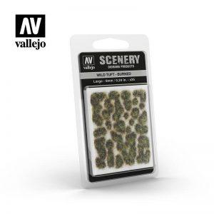 Vallejo   Vallejo Scenics AV Vallejo Scenery - Wild Tuft - Burned, Large: 6mm - VALSC414 - 8429551986120