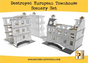 Warlord Games   Sarissa Precision Destroyed European Townhouse Scenery Set - N150 - 5060572504271