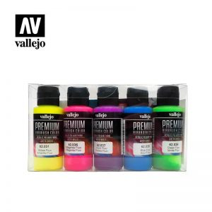 Vallejo   Premium Airbrush Colour AV Vallejo Premium Color - 60ml Set Fluorescent 5x60ml - VAL62102 - 8429551621021