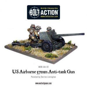 Warlord Games Bolt Action  United States of America (BA) US Airborne 57mm ATG & Crew - WGB-AA-23 -