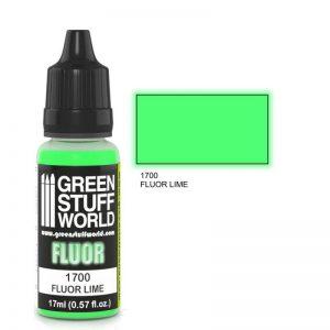 Green Stuff World   Fluorescent Paints Fluor Paint LIME - 8436574500592ES - 8436574500592