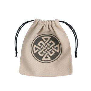 Q-Workshop   Dice Accessories Celtic Beige & black Dice Bag - BCEL101 - 5907814951861