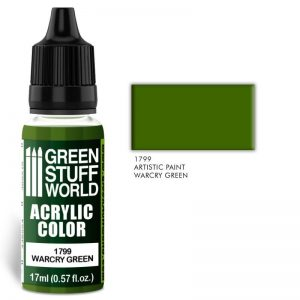 Green Stuff World   Acrylic Paints Acrylic Color WARCRY GREEN - 8436574501582ES - 8436574501582
