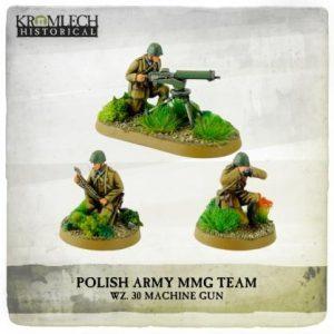 Kromlech   Kromlech Historical Polish Army wz. 30 Machine Gun team (MG + 3) - KHWW2007 - 5902216117624