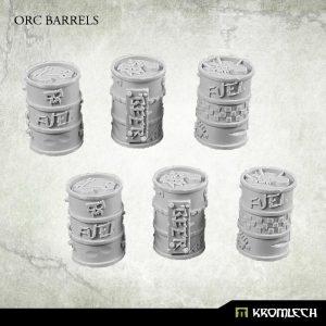 Kromlech   Junk City Bases Orc Junk City Barrels (6) - KRBK011 - 5902216114852