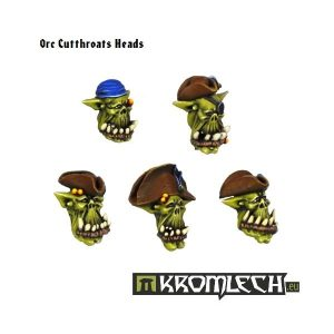 Kromlech   Orc Conversion Parts Orc Cutthroats Heads (10) - KRCB105 - 5902216111035