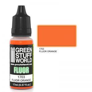 Green Stuff World   Fluorescent Paints Fluor Paint ORANGE - 8436574500622ES - 8436574500622