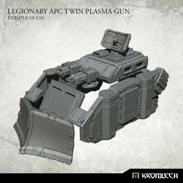 Kromlech   Vehicles & Vehicle Parts Legionary APC Twin Plasma Gun (1) - KRVB068 - 5902216118409