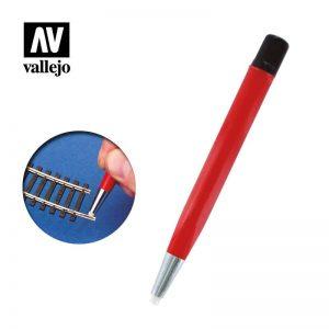 Vallejo   Vallejo Tools AV Vallejo Tools - 4mm Glass Fiber Brush - VALT15001 - 8429551930345