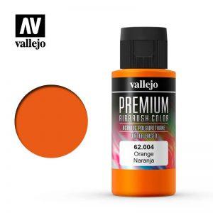 Vallejo   Premium Airbrush Colour Premium Color 60ml: Orange - VAL62004 - 8429551620048
