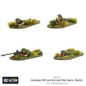 Warlord Games Bolt Action  Australia (BA) Australian PIAT and Anti-tank Rifle Teams (Pacific) - 403015018 - 5060393707424