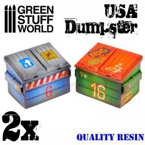 Green Stuff World   Green Stuff World Terrain USA Dumpster - 8436574503364ES - 8436574503364