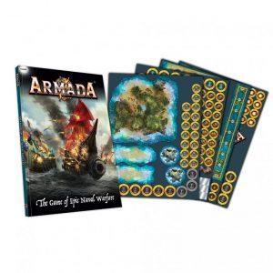 Mantic Kings of War Armada  Kings of War Armada Essentials Armada Rulebook & Templates - MGARM102 - 5060469666419