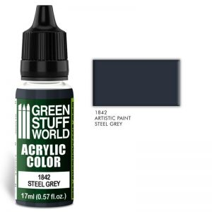 Green Stuff World   Acrylic Paints Acrylic Color STEEL GREY - 8436574502015ES - 8436574502015