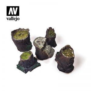 Vallejo   Vallejo Scenics Vallejo Scenics - Scenery: Small Stumps - VALSC306 - 8429551987165