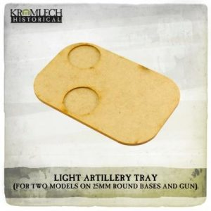 Kromlech   Movement Trays Artillery Tray (for two models on 25mm round bases and gun) x3 - KHBAS017 - 5902216118362